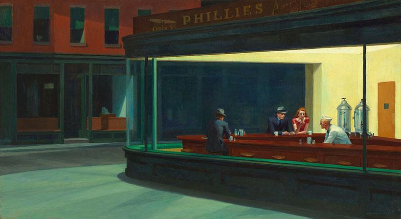 """Edward Hopper, """"I nottambuli"""" (1942)"""