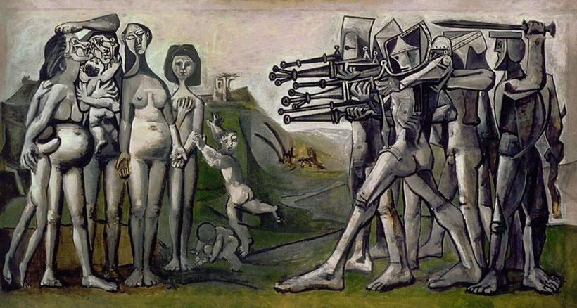 """Pablo Picasso, """"Massacro in Corea"""" (1951)"""