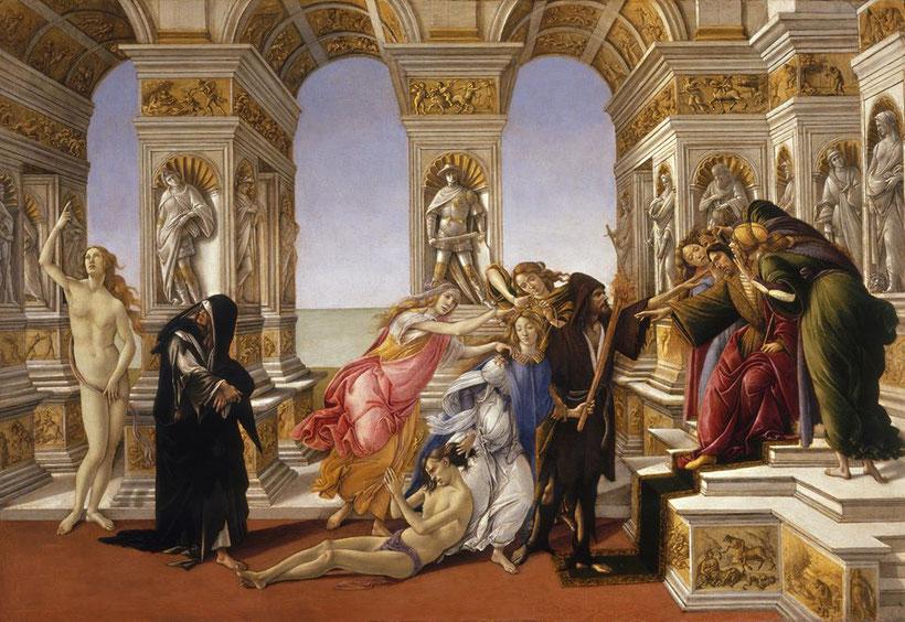 """Sandro Botticelli, """"Calunnia"""" (1491-1495)"""