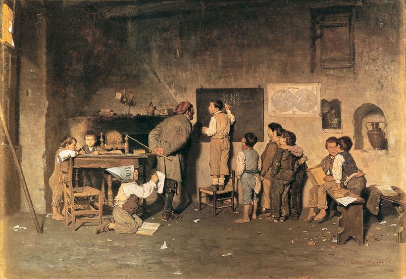 """G. Costantini, """"La scuola del villaggio"""" (1844)"""