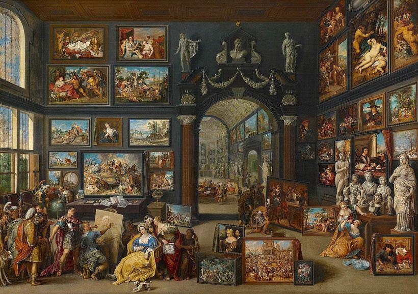 "Willem van Heacht, ""Apelle dipinge Campaspe"" (1630 circa)"