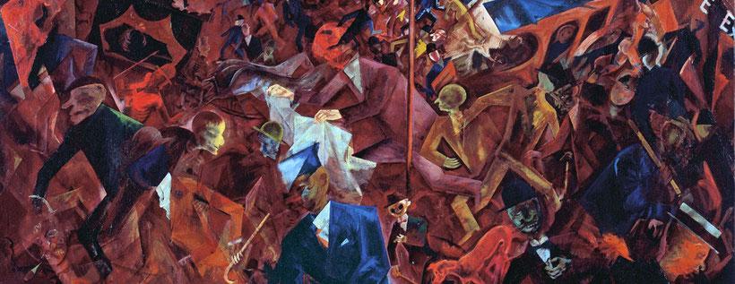 "G. Grosz, ""Metropolis"" (1917)"