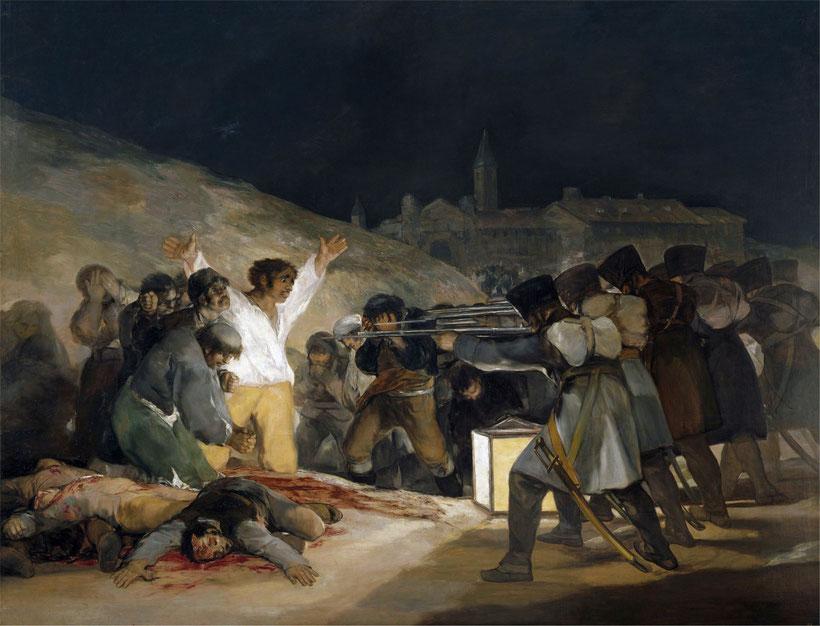 """F. Goya, """"Il 3 maggio 1808"""""""