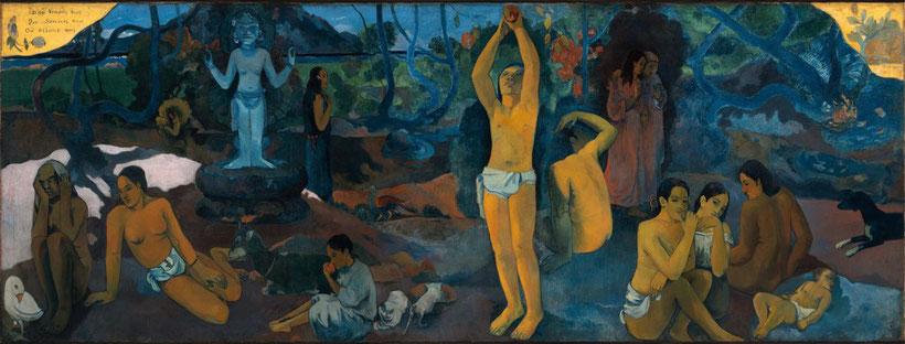 """P. Gauguin, """"Da dove veniamo? Chi siamo? Dove andiamo?"""" (1897)"""