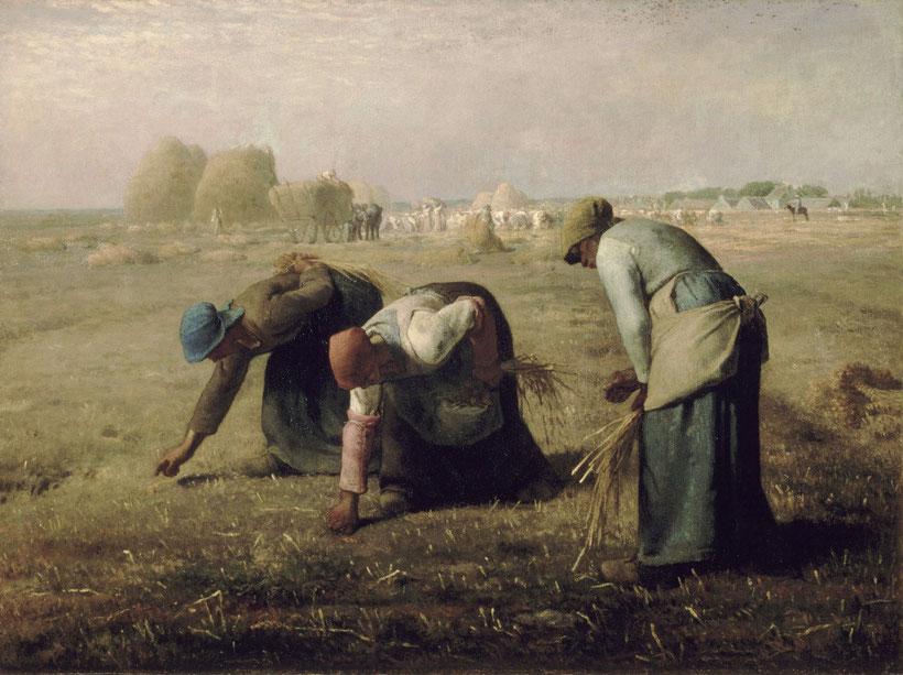 """Jean-Françcois Millet, """"Le spigolatrici"""" (1857)"""