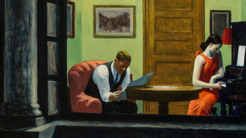 "Edward Hopper, ""Stanza a New York"" (1932)"