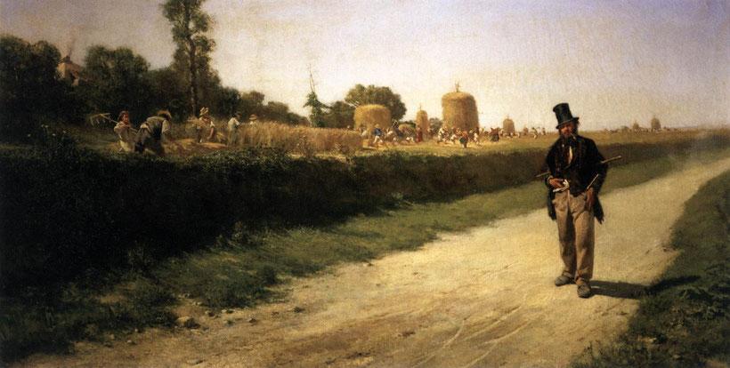 """Michele Cammarano, """"Ozio e lavoro"""" (1863)"""