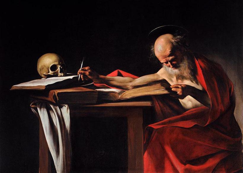 "Caravaggio, ""San Girolamo scrivente"" (1605/6)"
