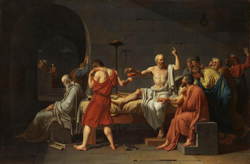 """J.-L. David, """"La morte di Socrate"""" (1787)"""