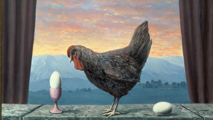 R. Magritte, variante de la Tristesse (1957)