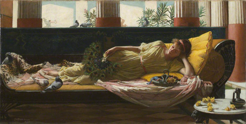 "John William Whaterhouse, ""Dolce far niente"""