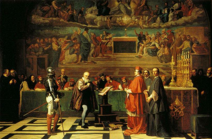 """J.N. Fleury, """"Galileo di fronte al Sant'Uffizio"""" (1847)"""