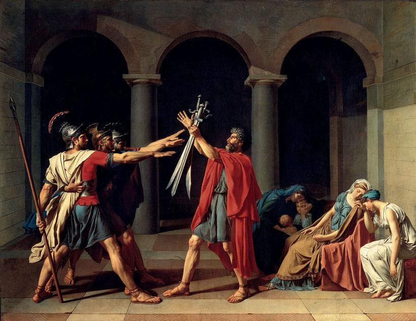 """J.L. David, """"Il giuramento degli Orazi"""" (1785)"""