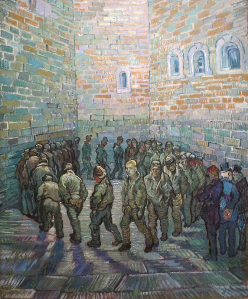"""V. Van Gogh, """"La ronda dei carcerati"""" (1890)"""