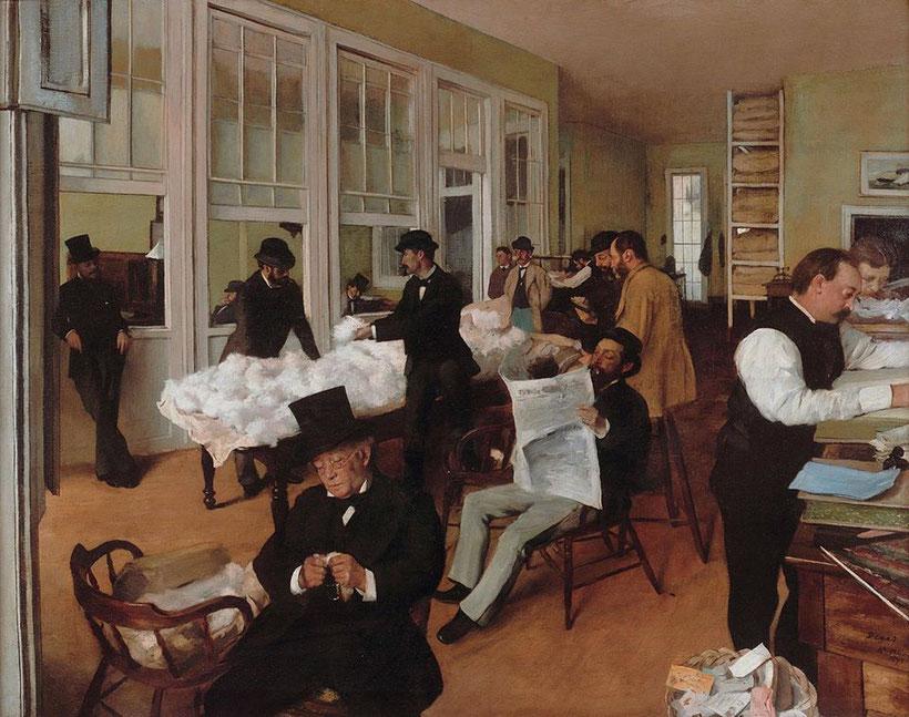 """Edgar Degas, """"Il mercato del cotone"""" (1873)"""
