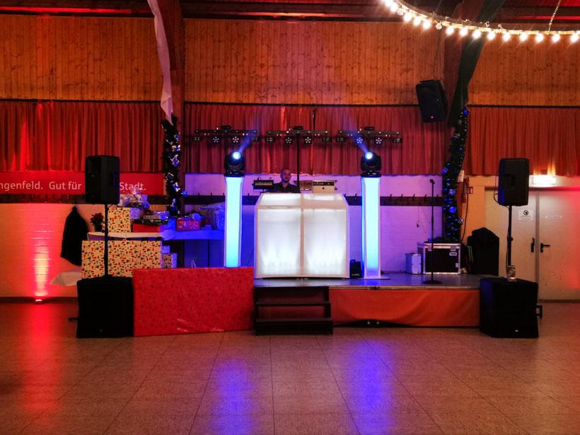 Haus Birken / Duisburg / Weihnachtsfeier Firma Kierdorf / DJ Setup