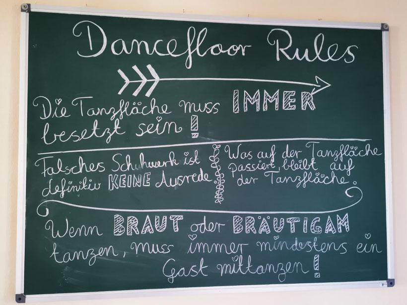 Dancefloor Rules / Hochzeit / Braut und Bräutigam