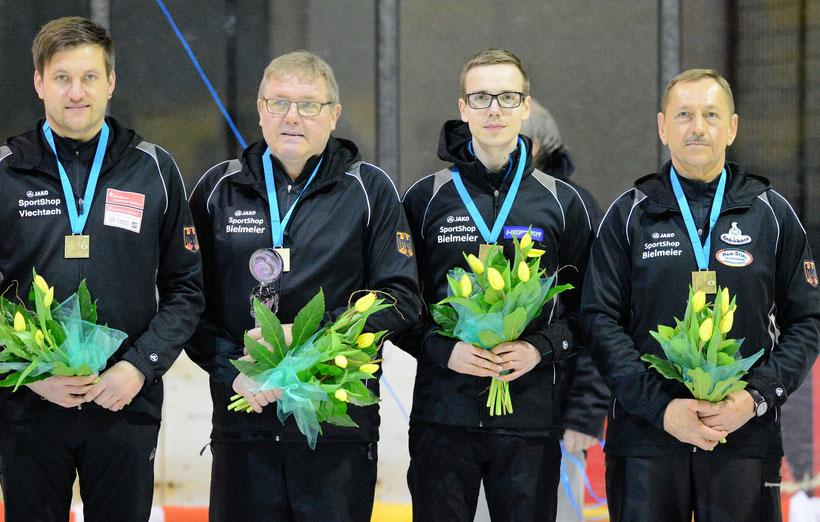 Bronze Teamzielwettbewerb: Christoph Öttl, Peter Kapfhammer, Matthias Obermaier u. Oswald Kufner (Foto: DESV)