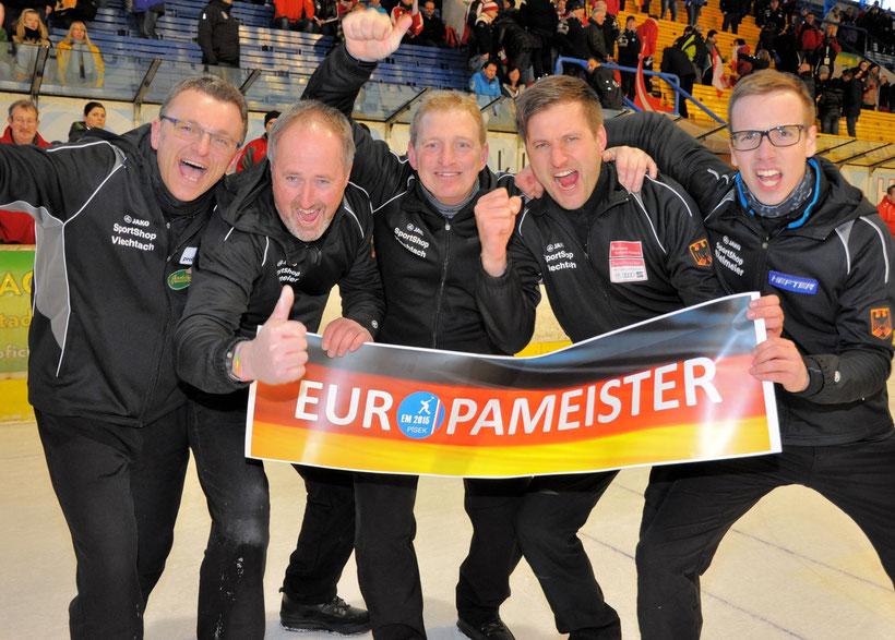 Europameister 2015 Team GER: Reinhold Stadler, Thomas Rapp-König, Andreas Greil, Christoph Öttl u. Matthias Obermaier (Foto: DESV)