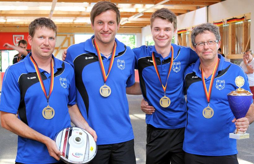 3. Platz für Johannes Heinze, Christoph Öttl, Matthias Meier und Konrad Heinze