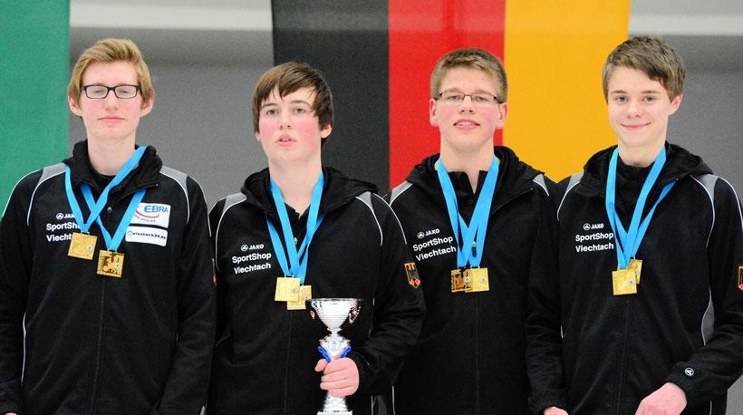Stefan Zellermeyer, Tobias Thurner, Michael Linder u. Matthias Meier (Foto: DESV)