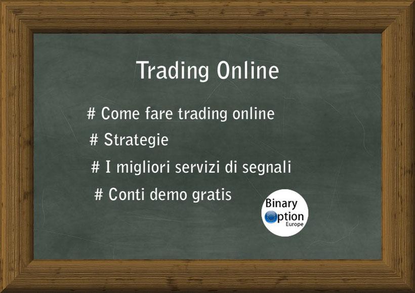 Strategie per opzioni binarie, Segnali per opzioni, come fare trading