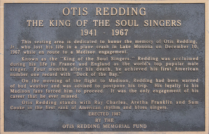 the Funky Soul story - Plaque hommage à Otis Redding