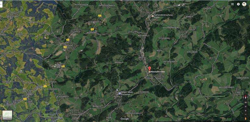 Aktuelle Position des Stoning Roll, Am Wiesenplatz 3, 51515 Kürten