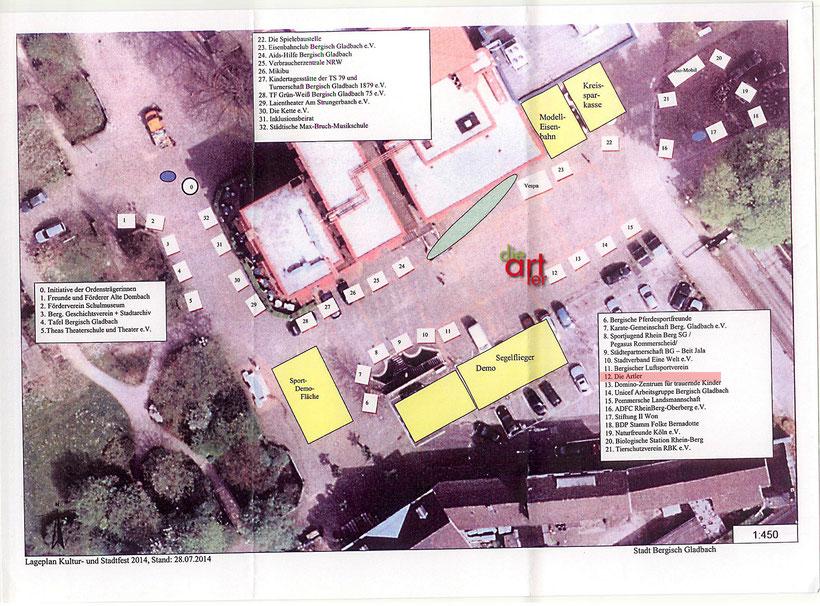 Lageplan Stadt- und Kulturfest von die artler