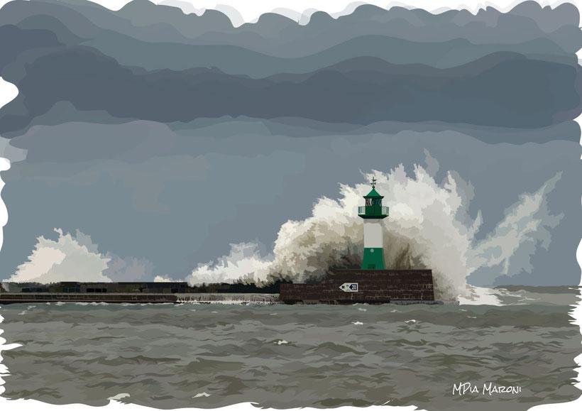 image-faro-digital-painting-art-disegno-drawing-lighthouse-illustrazione-vettoriale-onde-alte-maltempo-burrasca