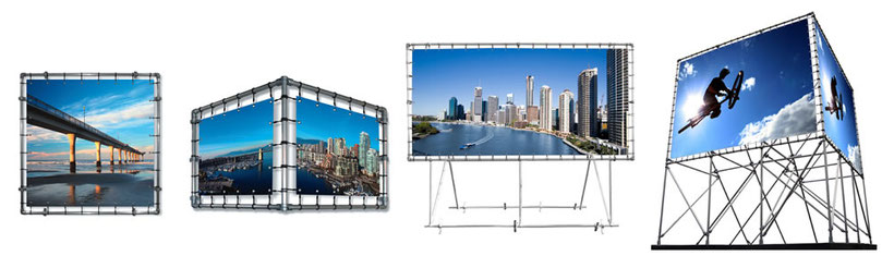 Spandoek in Aluminium frame