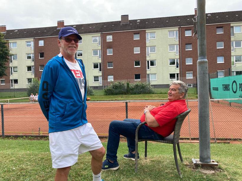 Die Turnierleitung Volker Raabe und Harald Lüth