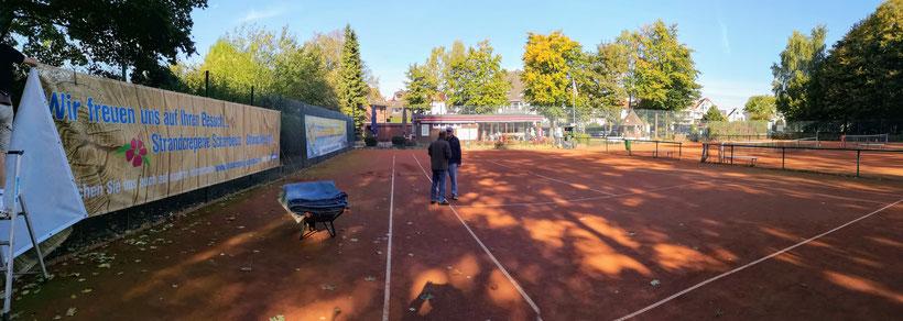 .... was haben wir für eine schöne Tennisanlage!