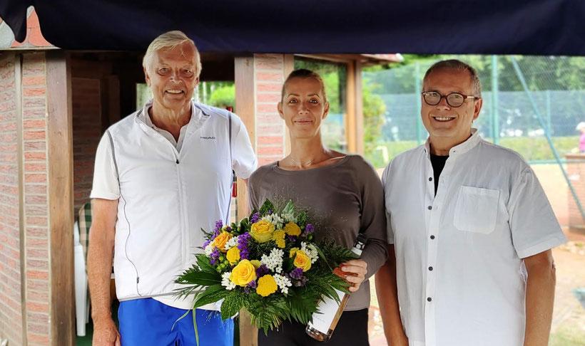 Vorsitzender Garardo Baumbach - Svea Peter - Sportwart Hartmut Wildfang