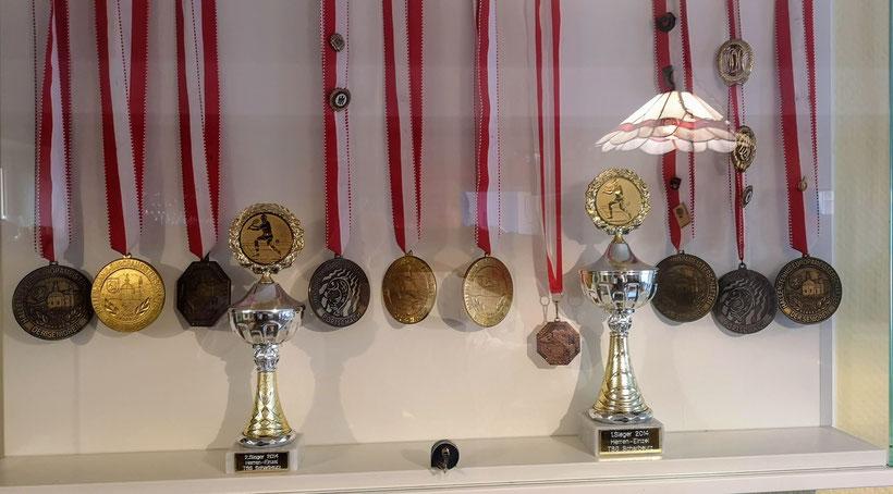 Medaillen von Marianne Sager und Gerhard Tost - Europameisterschaften und Deutschen Meisterschaften