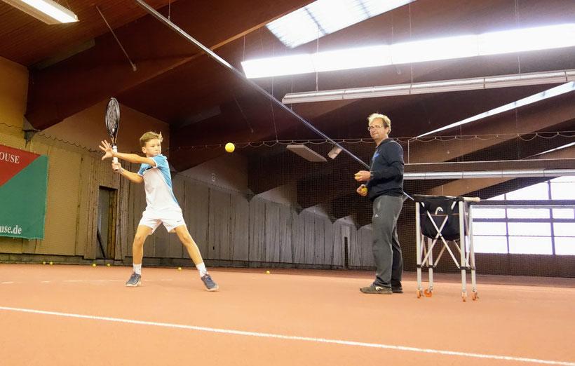 Luca Larwig im Training ....
