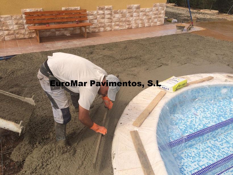 Hormigon impreso precio hormigon impreso desde 12 m2 for Cemento impreso madrid