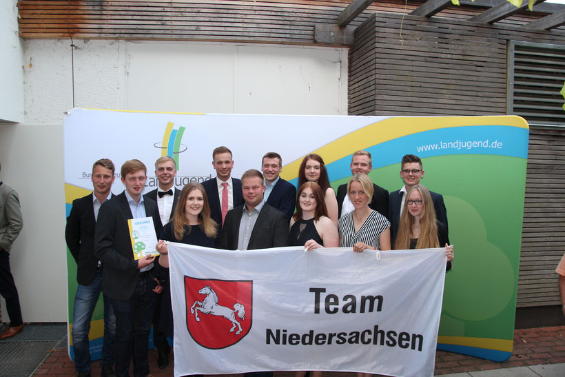 Das Niedersachsen Team auf dem Bundesentscheid 2019 in Herrsching (Bayern). Bild: BDL/ Gräschke