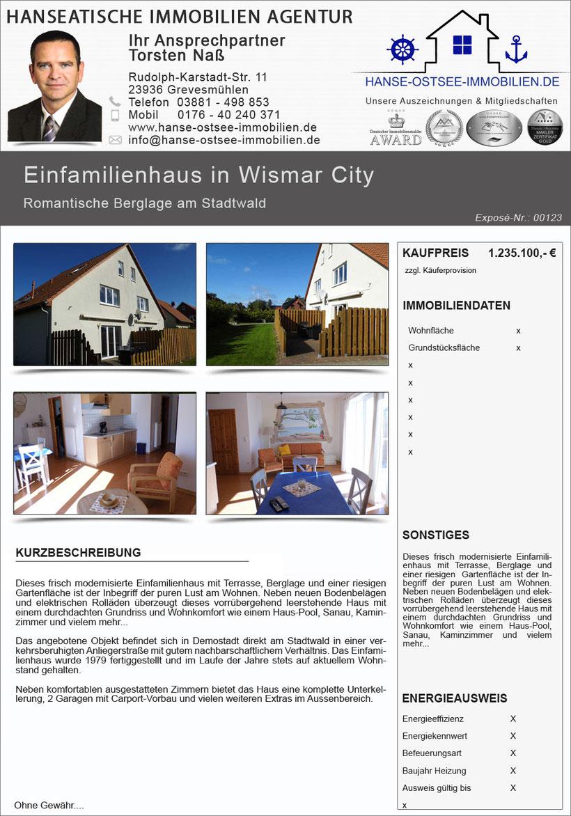 einfamilienhaus haus kaufen in wismar h user hausverkauf wismar immobilienangebote wismar. Black Bedroom Furniture Sets. Home Design Ideas