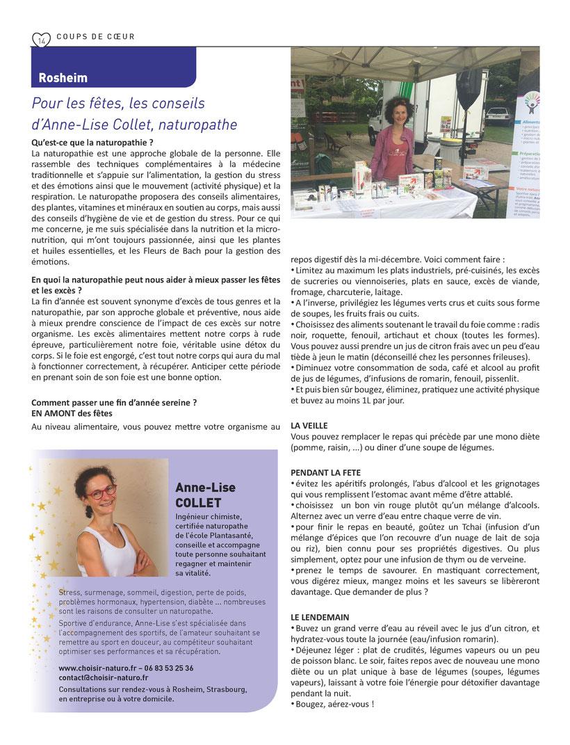Extrait supplément DNA du 23/11/18 - Edition Molsheim, Barr, Sélestat
