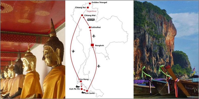 Kosten 2 Wochen Thailand Flashpacking (Hauptsaison)