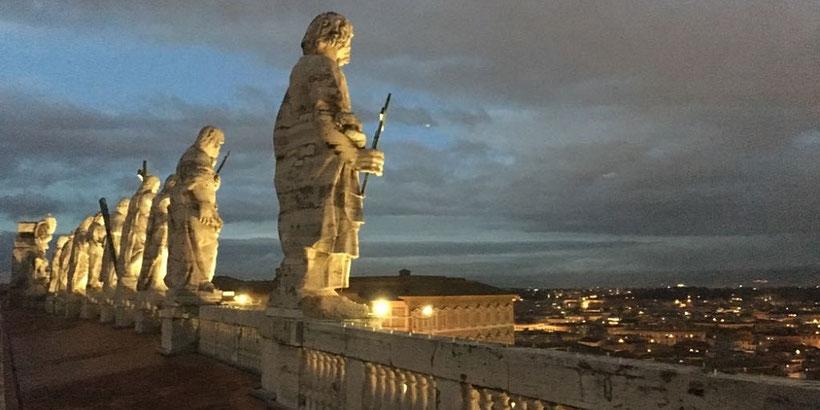 Dach des Petersdoms in Rom