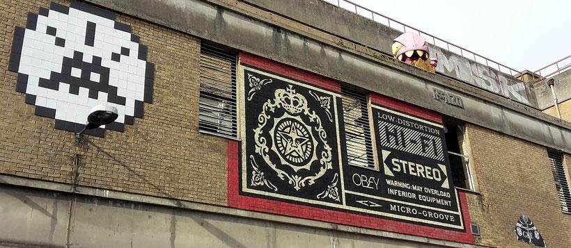 Shoreditch Street Art Tours, Crunshy the Credit Crunch Monster, Ronzo
