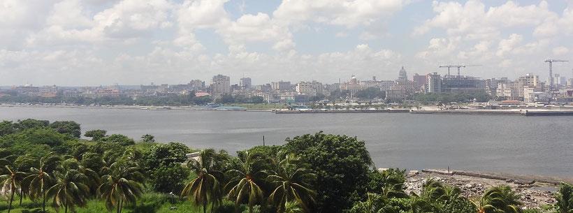 View from Castillo de los Tres Reyes del Morro, Havana, Cuba
