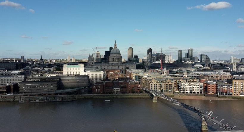 Millennium Bridge und St Pauls, Harry Potter Drehorte London