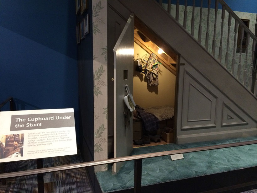Harry Potter Studio Tour - The cupboard under the stairs
