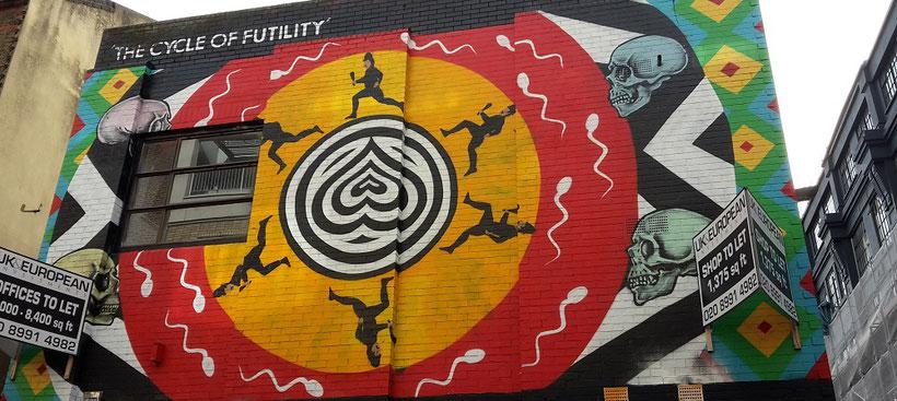 Shoreditch Street Art Tours, The Cycle Of Futility, INSA