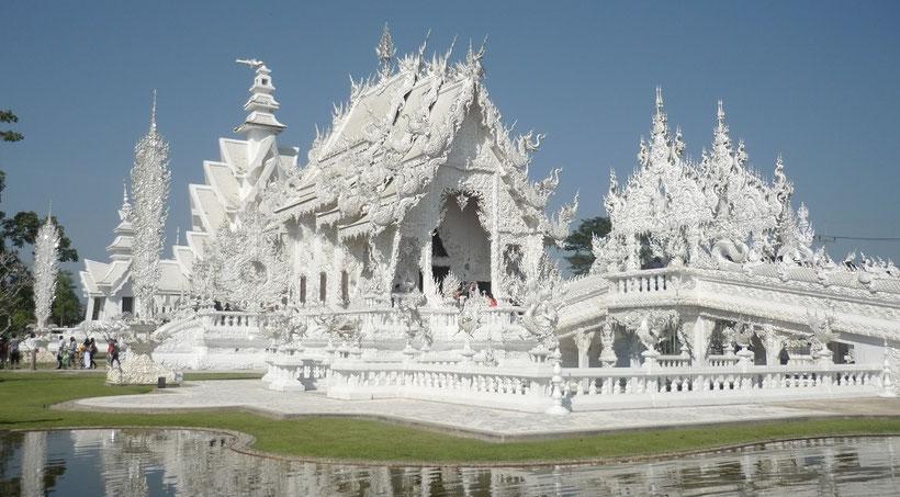 Reiseroute Thailand 2 Wochen - Weißer Tempel Chiang Rai Wat Rong Khun