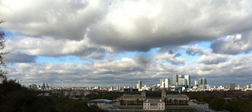 Aussicht vom Greenwich Park in London