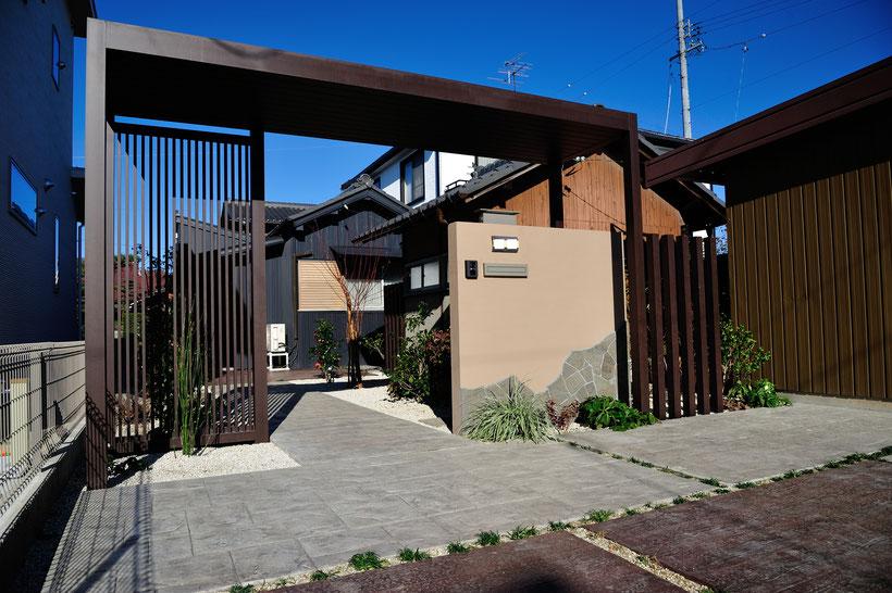 デザインコンクリート スタンプコンクリート ステンシルコンクリート画像